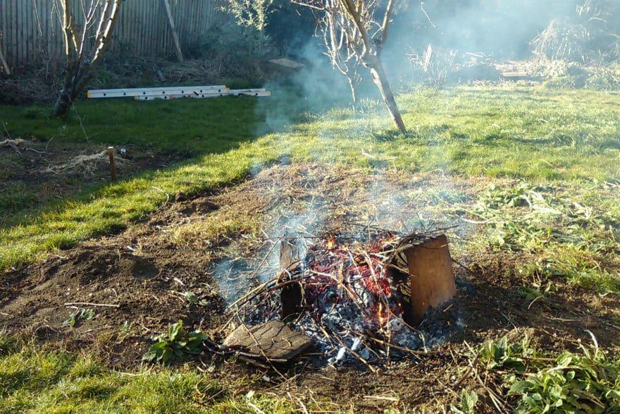 Garden bonfire