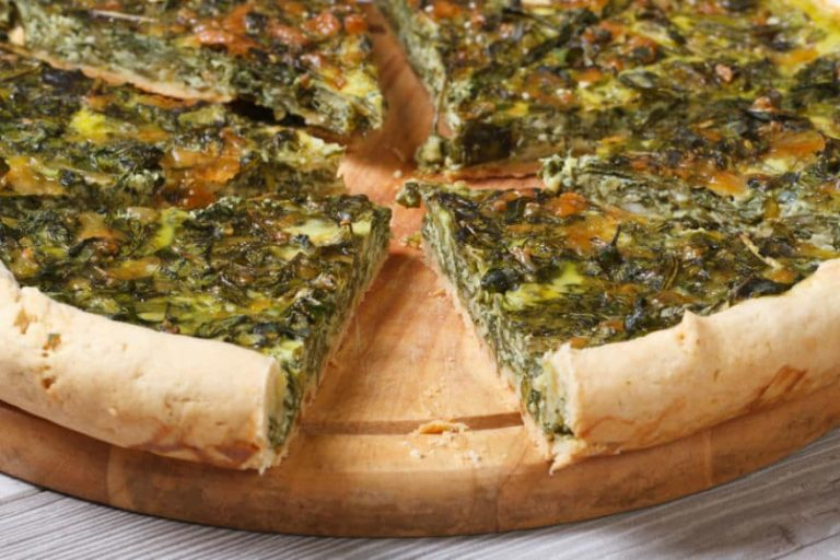 Chard and Dolcelatte tart
