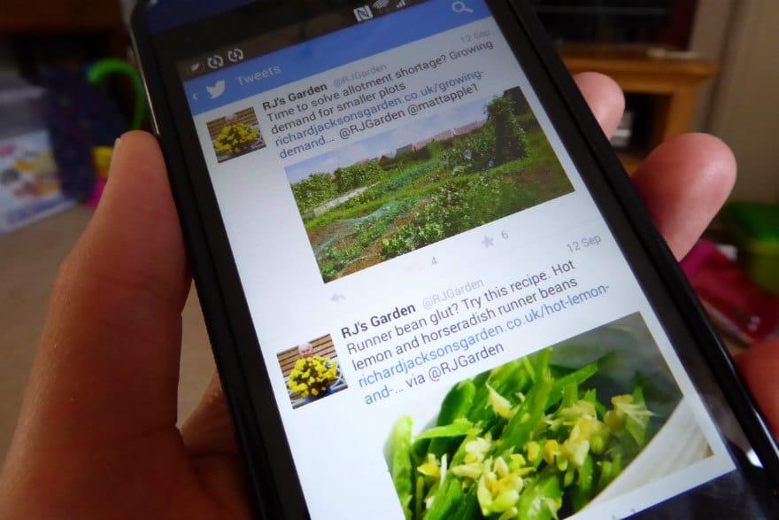 Twitter on smartphone