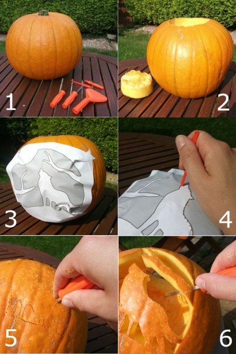 pumpkin carving step by step
