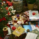 Christmas gifts under the tree.