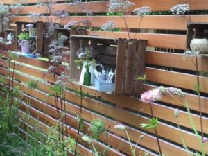 Open garden cupboard crates