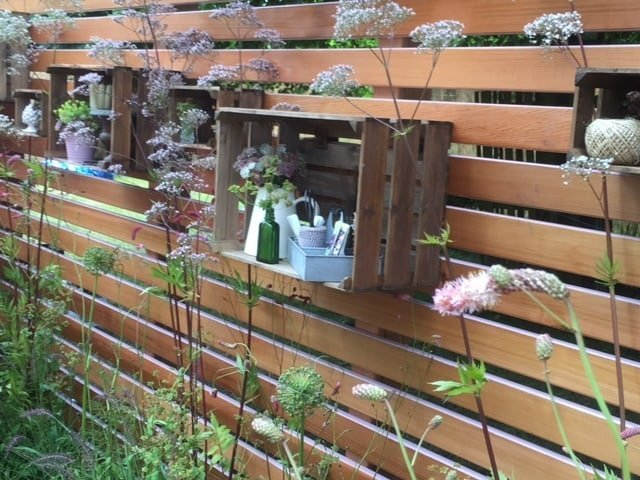 Open garden cupboard crates