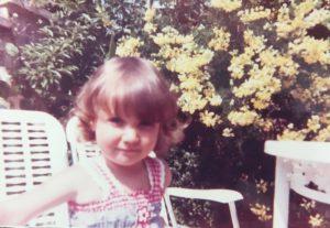 Debi Holland aged 3