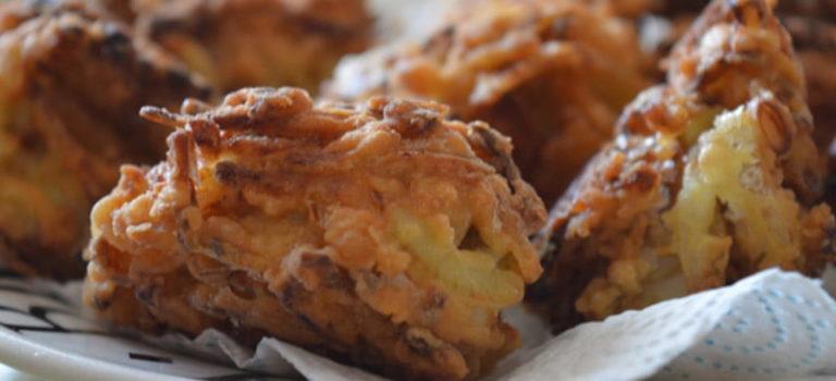 Delicious onion bhajees