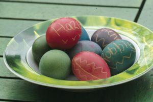 Dyed eggs. Image: Clive Nichols