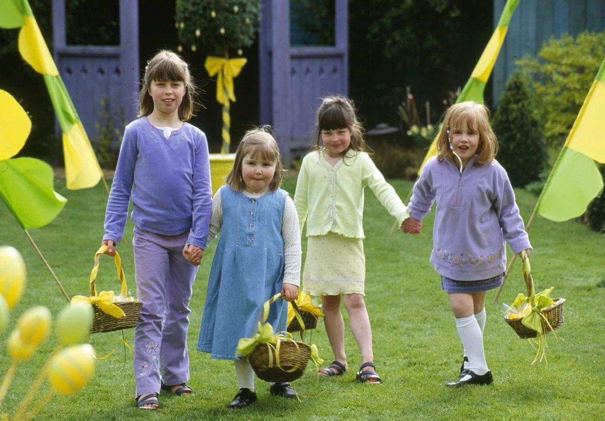 Children on a Easter egg hunt