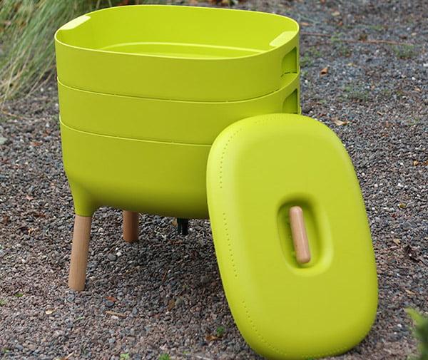 green worm bin compost