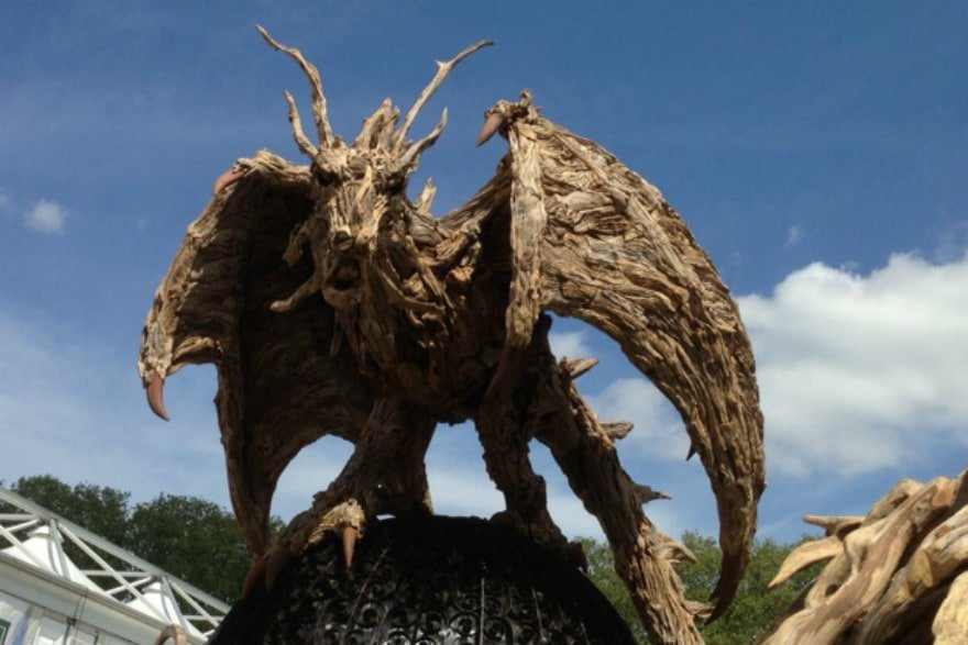 driftwood dragon created by James Doran Webb