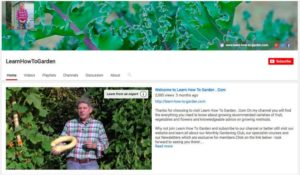 Learn How To Garden YouTube channel