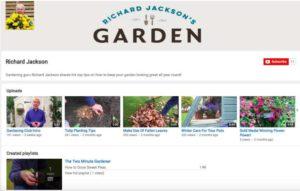 Richard Jackson's Garden YouTube channel
