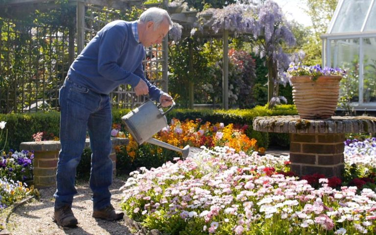 Richard watering