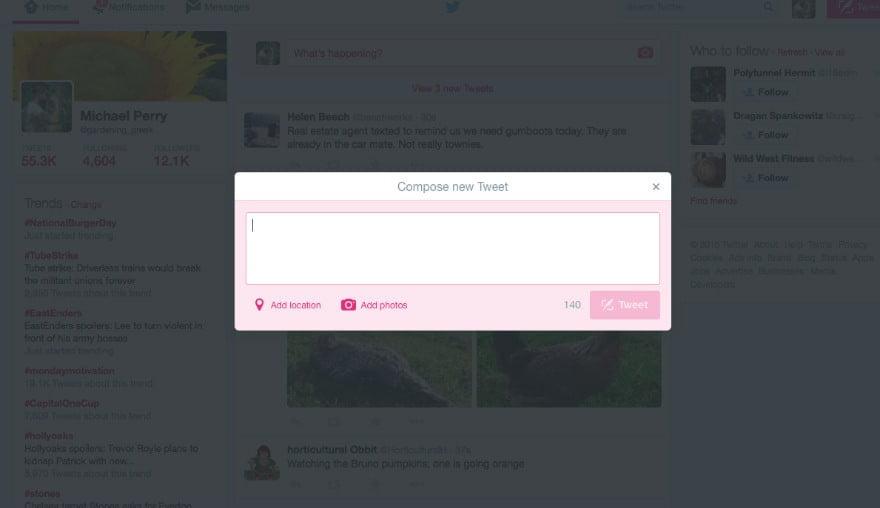 sending a tweet