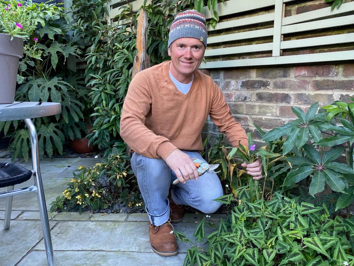 Martyn Cox weeding