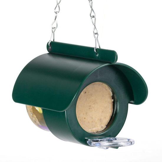 a jar of Richard Jackson peanut butter for birds in hanging feeder