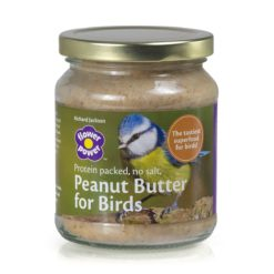 A jar of Richard Jackson peanut butter bird food