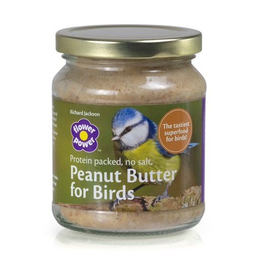 A jar of Richard Jackson peanut butter bird food