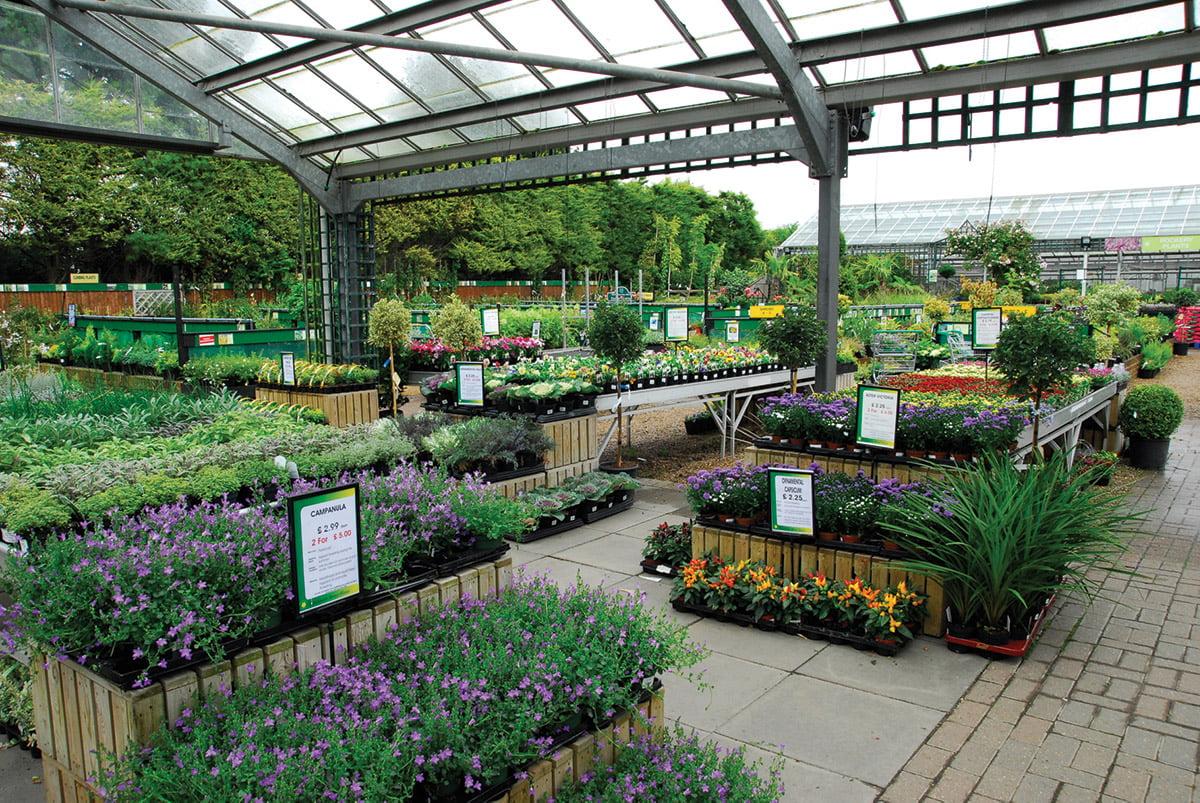 well stocked garden centre
