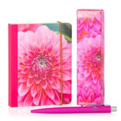 matching notebook and pen gift set