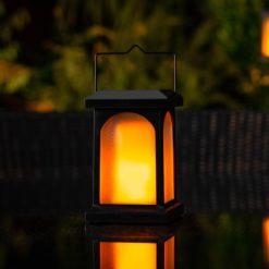 solar powered candle lantern
