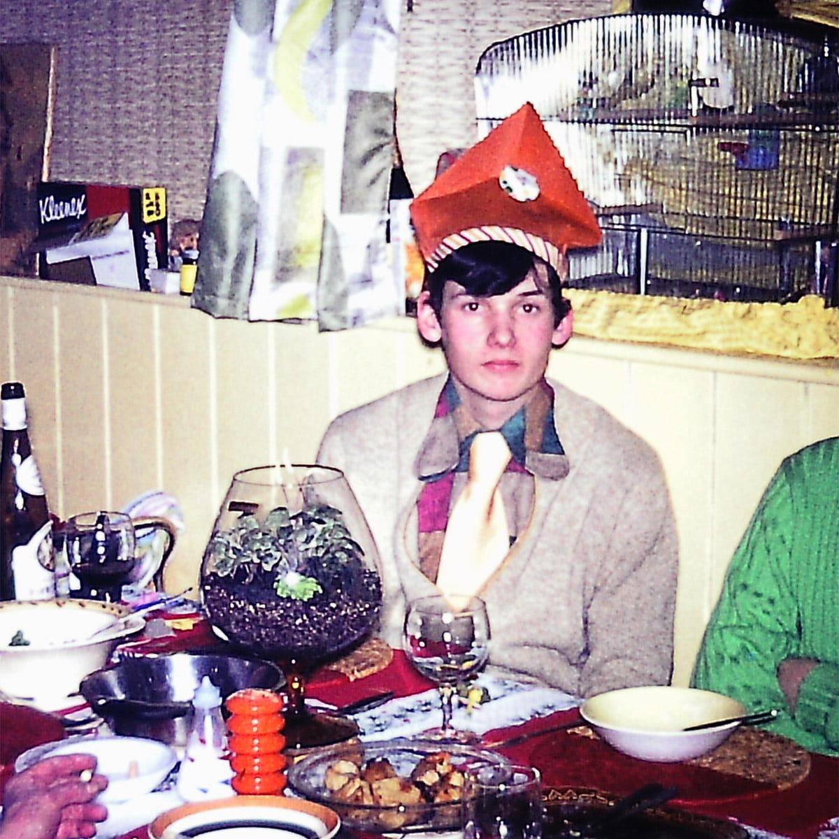 Geoff Stonebanks 1971 wearing Christmas hat