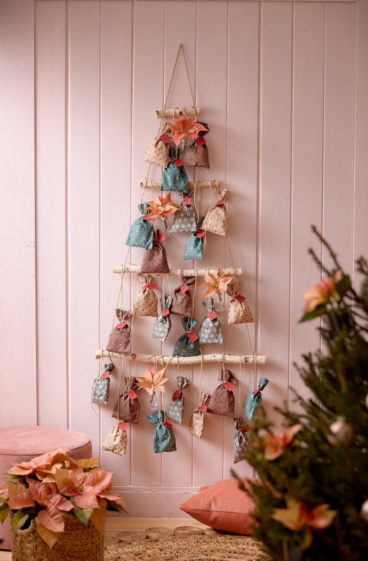 poinsettia themed advent calendar