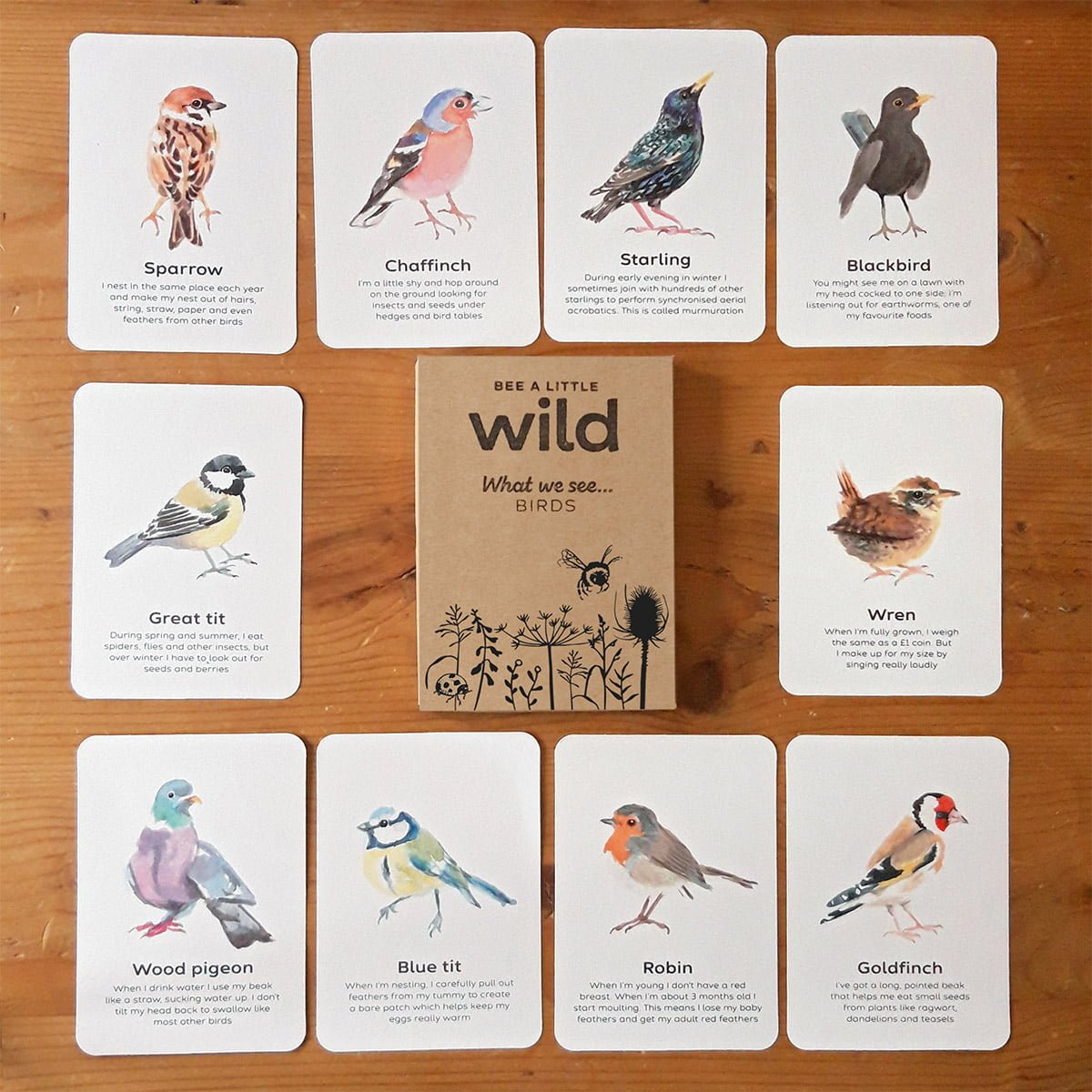 UK Birds Nature Cards