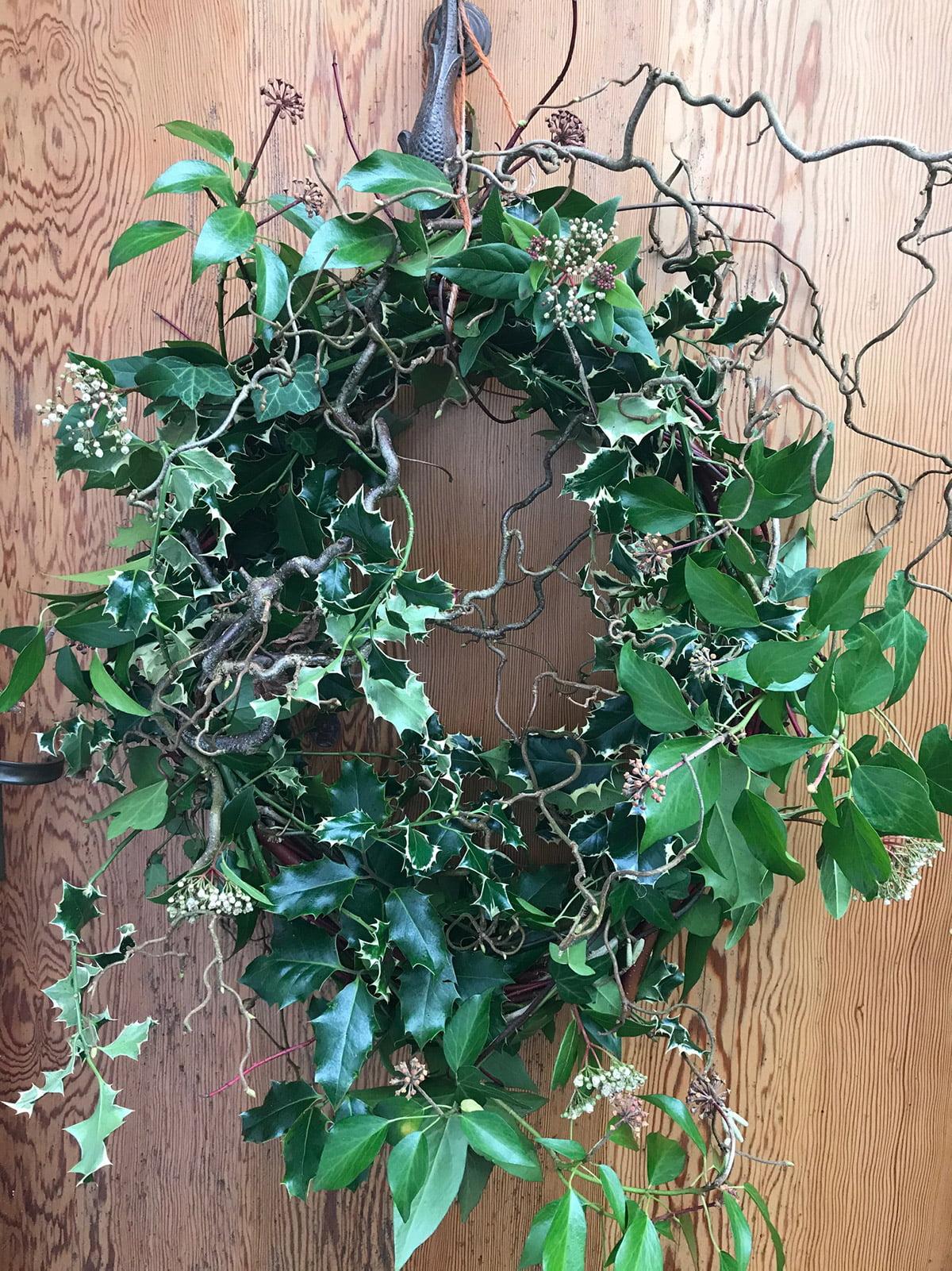 homemade door wreath