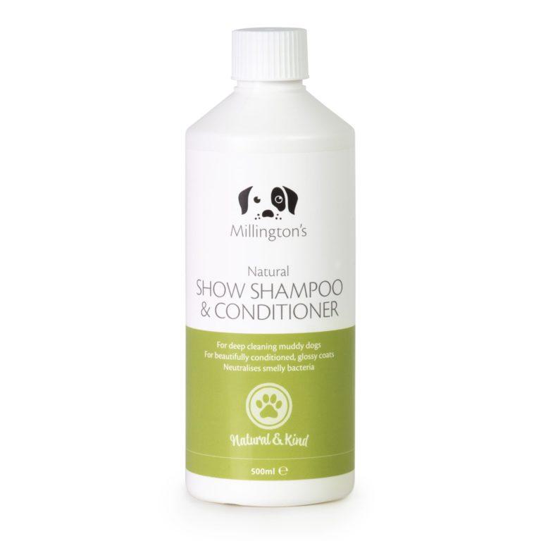Millingtons Show Shampoo & Conditioner bottle front