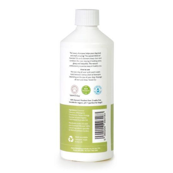 Millingtons Show Shampoo & Conditioner bottle reverse