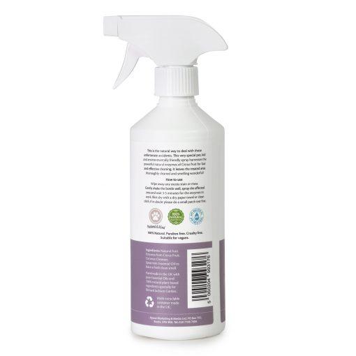 Millingtons Pet Stain Remover & Deodoriser bottle reverse