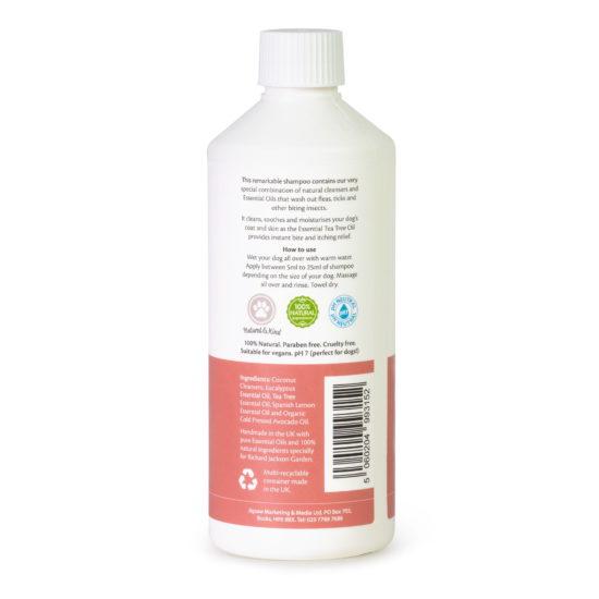 Millingtons Flea & Tick Shampoo bottle reverse
