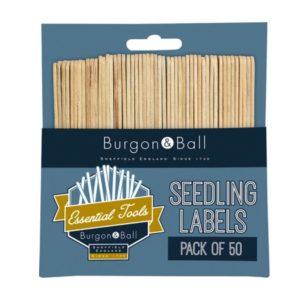 50 wooden seedling labels