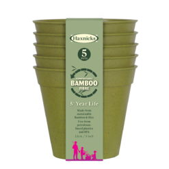 Haxnicks Bamboo Pots 5 inch