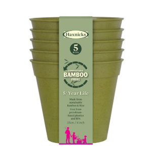 Haxnicks Bamboo Pots 6 inch