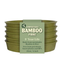 Haxnicks Bamboo pot trays 6 inch