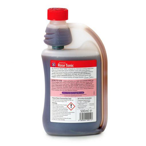 Premium Rose Tonic bottle reverse