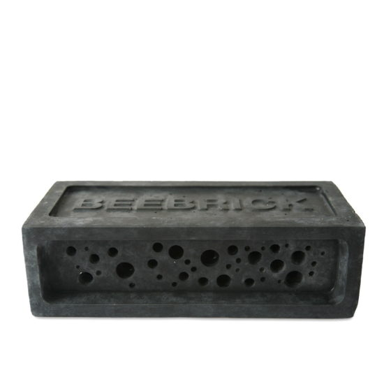 Bee Brick in charcoal
