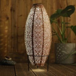 Lightstyle London Solar Oval Lantern on stand
