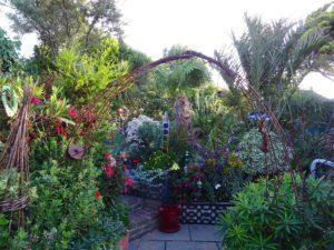 metal arch at Driftwood Garden