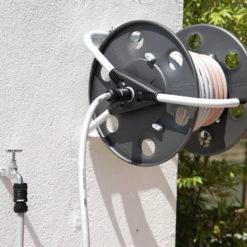 Metal 40 Hose Reel mounted on wall