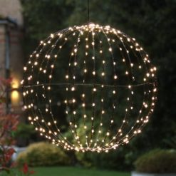 Solar Sphere hanging outside