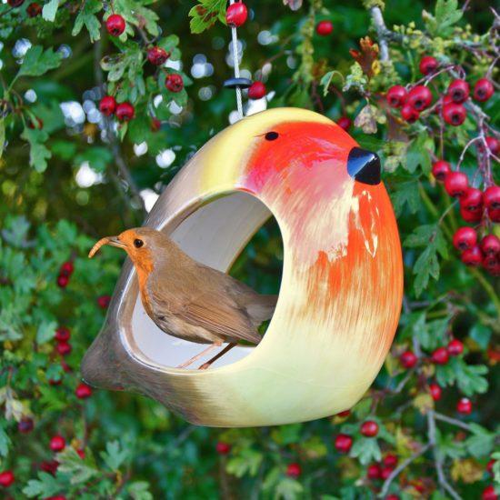 Wildlife World ceramic robin feeder