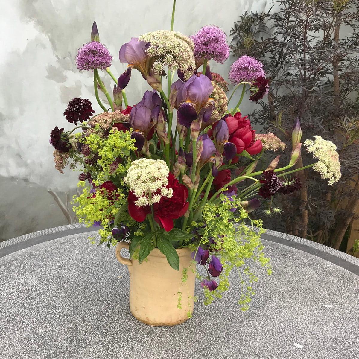 Jug of flowers at Chelsea