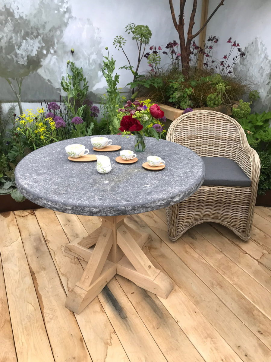 Oxenwood table and chairs at Chelsea