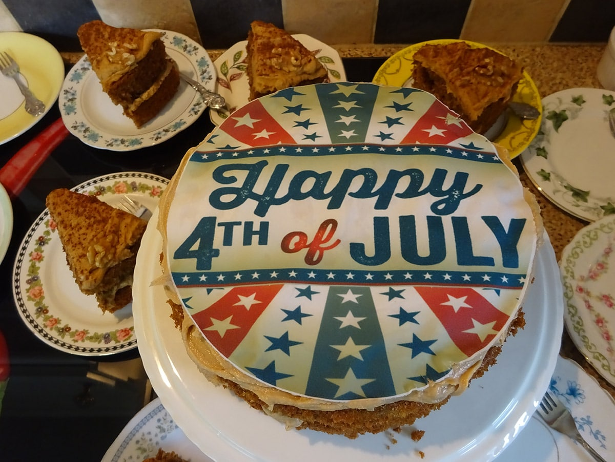 4th of July cake at Driftwood