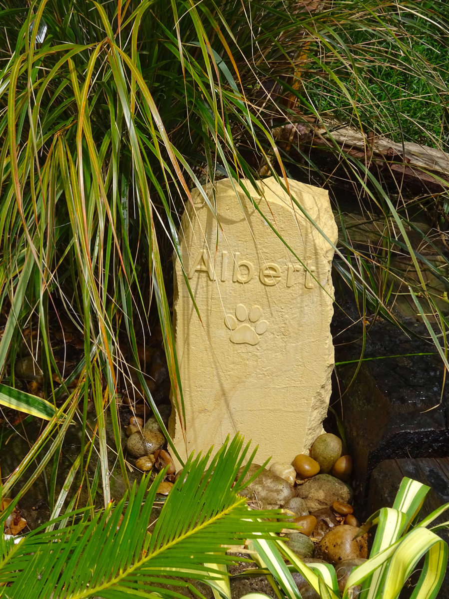 Albert's stone at Driftwood