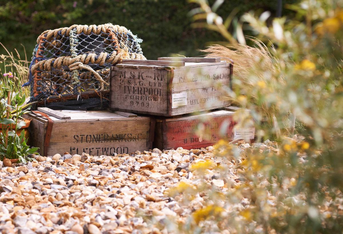 fish crates Driftwood garden