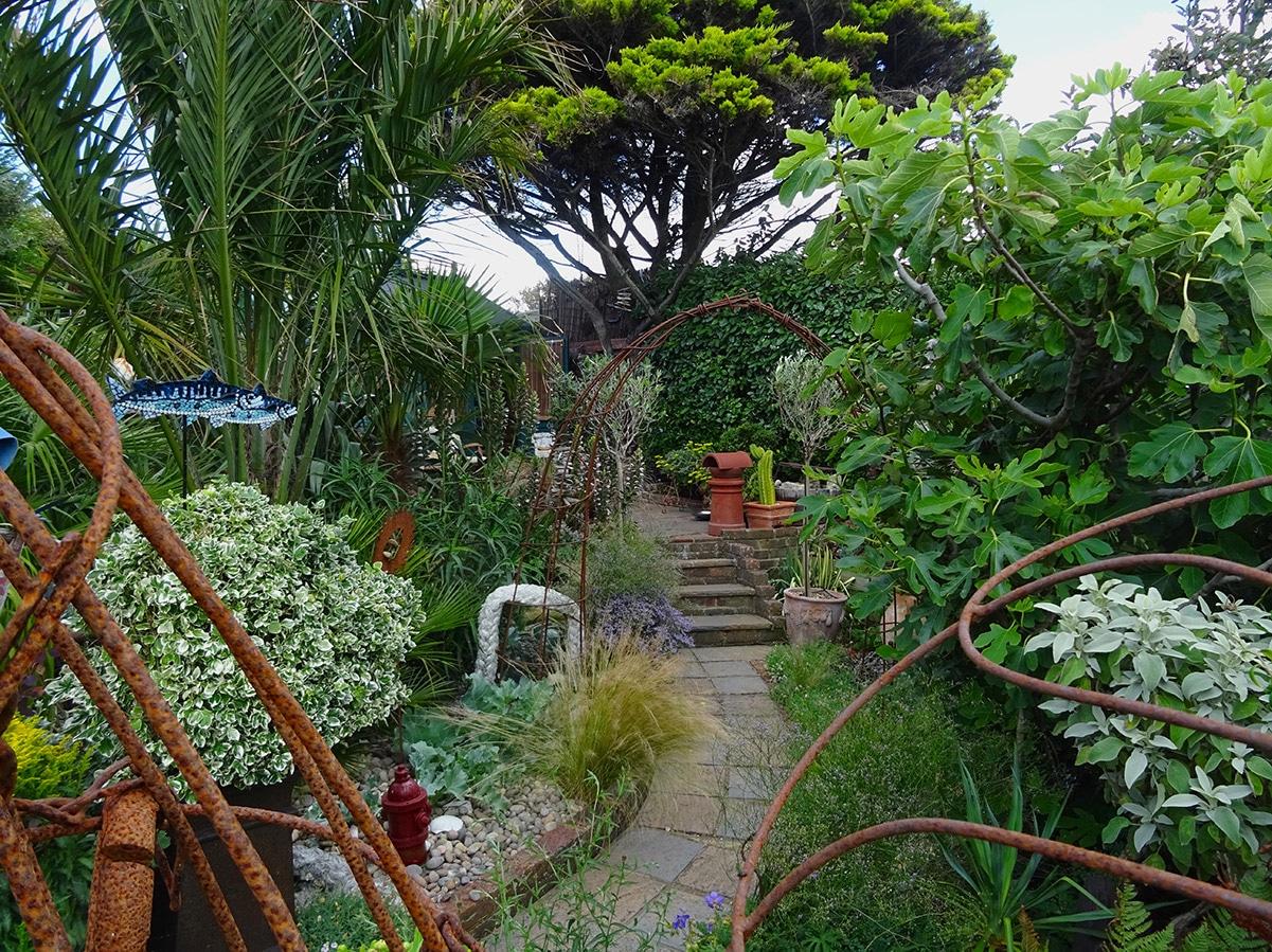 The upper gravel gardens at Driftwood