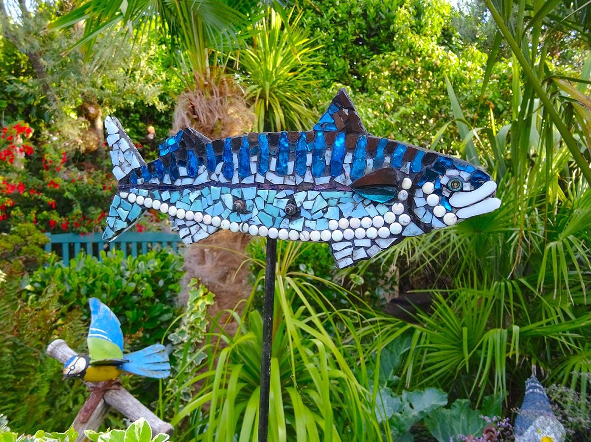 Mosaic fish at Driftwood